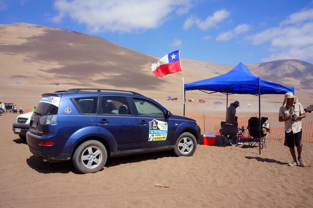 Villa de autos en el Dakar