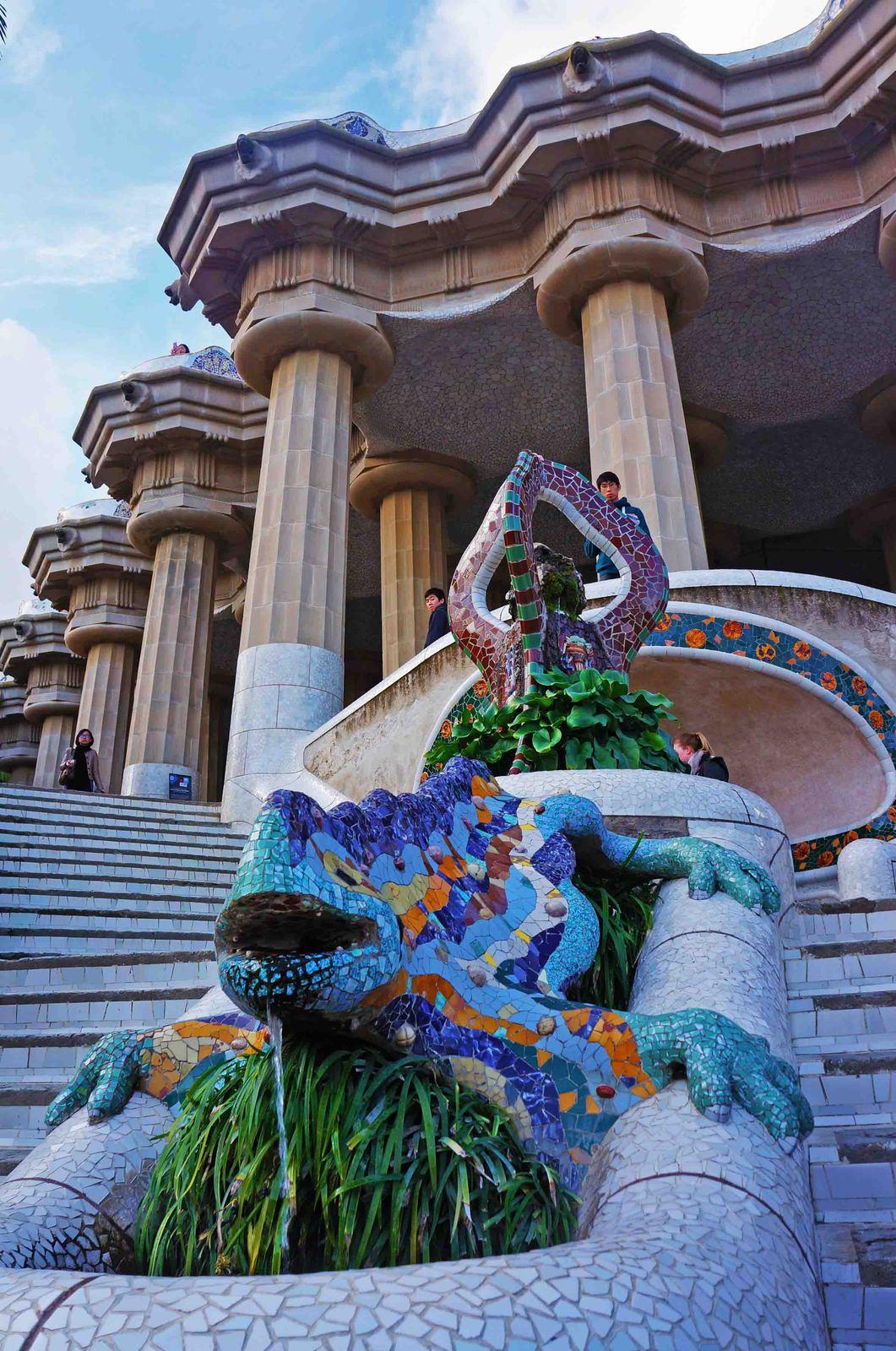 El Dragón de la Escalinata, Parque Güell en Barcelona
