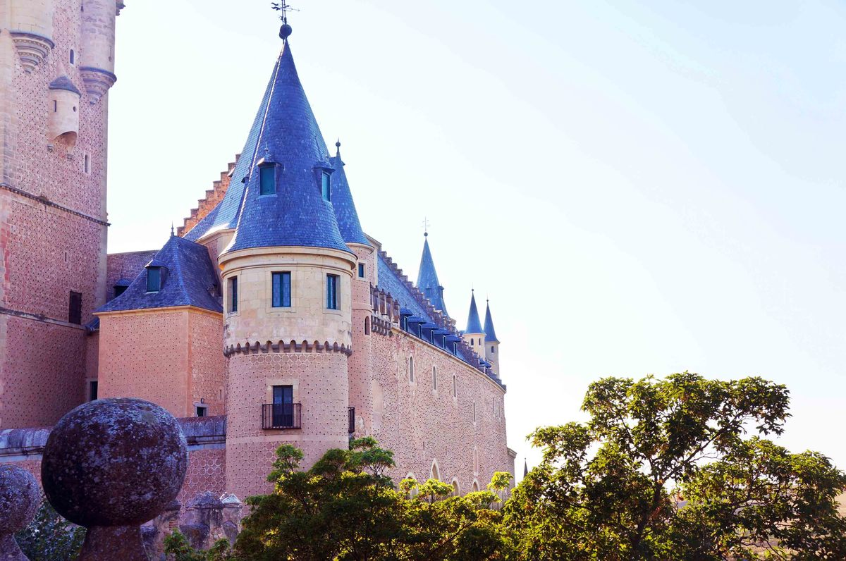 Un ala del Alcázar de Segovia