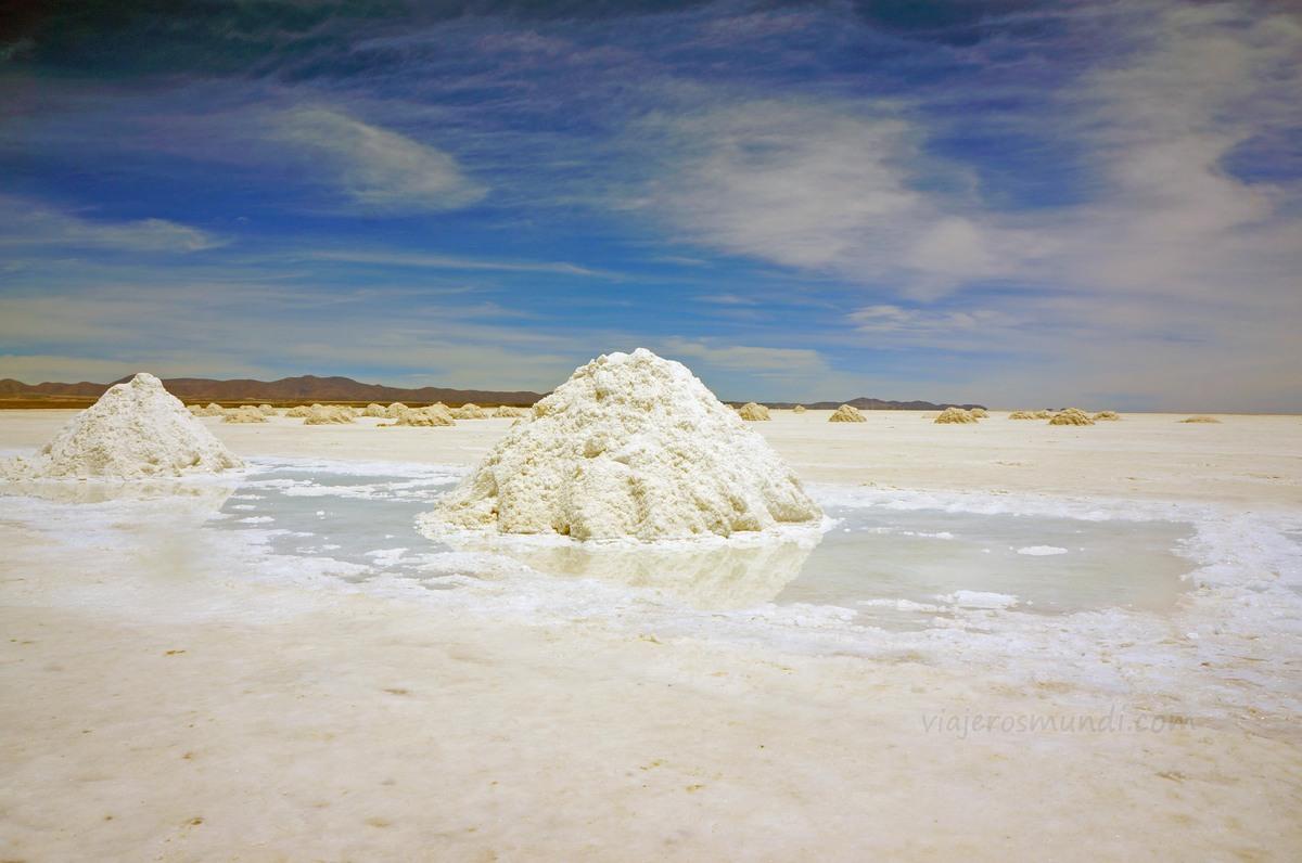 Montículo de sal en Uyuni
