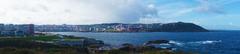 Vista de La Coruña desde la Torre de Hércules