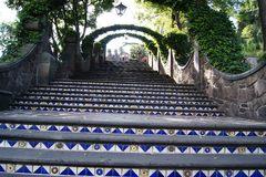 Escaleras al cerro del Tepeyac