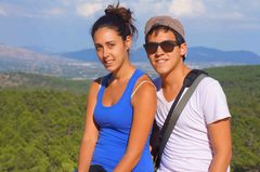 Henar y yo en el Valle de los Caídos, España