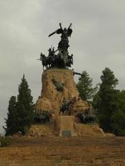 Monumento a San Martin, en la plaza central de Mendoza