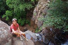 En lo alto de la cascada de Los Cazos, Mazamitla