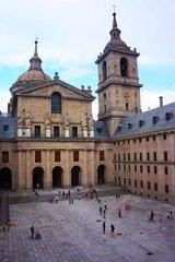 Vista de la Basílica de El Escorial desde la Biblioteca