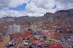 Vista de La Paz desde su teleférico