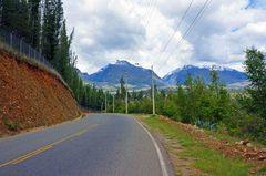 Cordillera Blanca, carretera de Huaraz