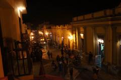 Vista nocturna de San Cristóbal de las Casas