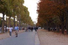 Campos Elíseos de París en otoño