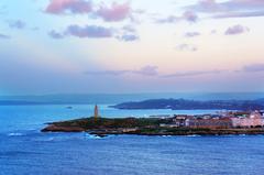 Vista de La Coruña desde el Monte de San Pedro