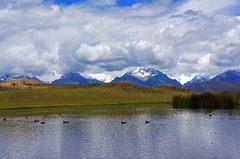 La Cordillera Blanca desde la laguna de Wilcacocha