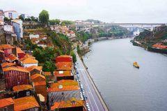 Vista de Oporto desde el Ponte Luis
