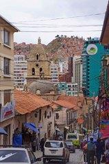 Calles del casco viejo de La Paz