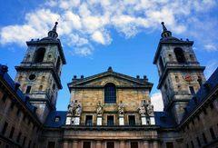 Fachada de la Basílica de El Escorial, España