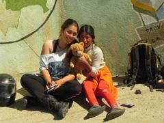 Con Roxana en Calacota Baja, Bolivia