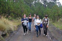 Nuestro camino al cráter