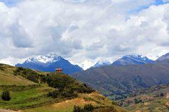 Cordillera Blanca vista desde la Cordillera Negra, Perú