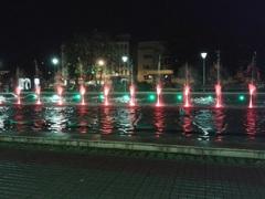 Fuente de agua y colores, Osorno, Chile