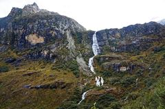 Cascada en las paredes del Parque Nacional Huasca