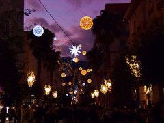 Luminarias en Corso Vittorio Emanuele, Salerno