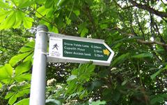 """Carteles que señalan los """"Public Footpath"""" de Marsden"""