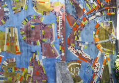 Detalle del mural del Jardim Das Águas