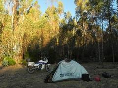 Acampando antes de regresar a Cusco