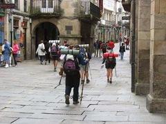 Peregrinos en Santiago de Compostela