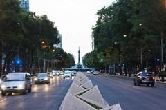 Vista del Ángel desde el camellón de Reforma