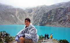 Tras llegar a la Laguna 69, Parque Nacional Huascarán
