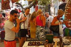 Mercado hippie en Ibiza
