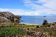 Vista del Titicaca desde la isla del Sol