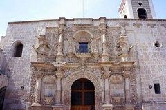 Fachada de la Iglesia de San Agustín, Arequipa