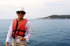 Disfrutando el viaje en barca