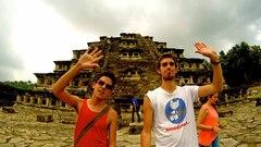 En la pirámide de los Nichos, ciudad de El Tajín