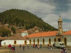 Plazoleta de la ciudad de Sucre, bolivia