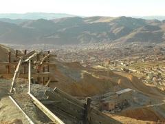 La ciudad de Potosí desde la mina