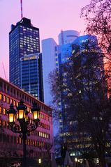Un atardecer en Frankfurt