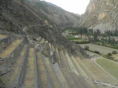 Balcones de cultivos, ruinas arqueológicas de Ollantaytambo