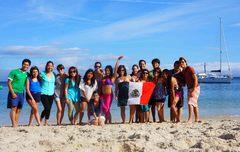 Mexicanos en la Playa de Rodas, Islas Cíes, Galicia