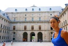 Entrada principal al Monasterio de El Escorial, España