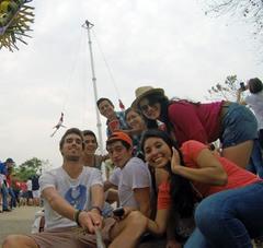 Con los voladores de Papantla, Festival Cumbre Tajín 2015