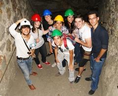 En la mina de plata