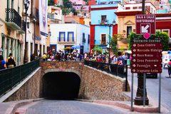 Entrada a las calles subterráneas de Guanajuato