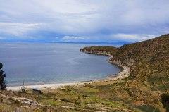Vista desde la isla del Sol