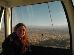 Vista desde el teleférico San Bernardo, en Salta