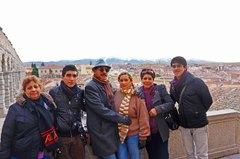 Con mi familia en Segovia