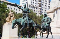 Don Quijote y Sancho Panza, Plaza España de Madrid
