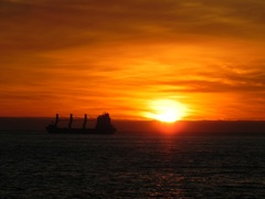 Atardecer en Viña del Mar, Chile